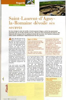 Fouilles à Saint Laurent d'Agny
