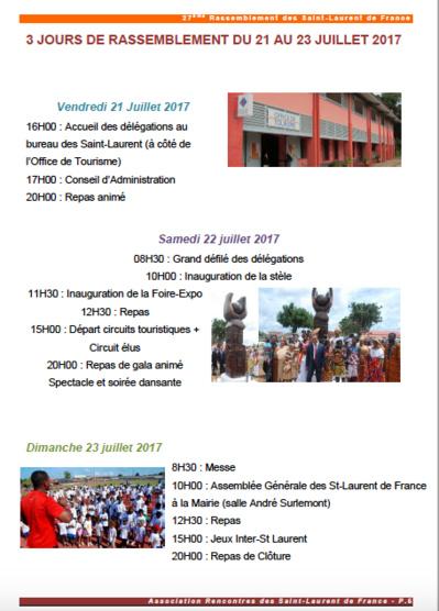 27° rassemblement Saint-Laurent-du-Maroni - info N°3