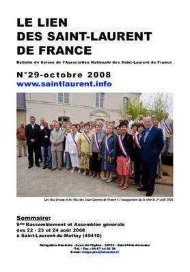 Lien N°29 - bulletin de liaison des Saint-Laurent de France