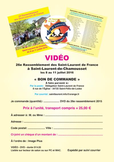 Vidéo du 26° rassemblement - Saint-Laurent-de-Chamousset