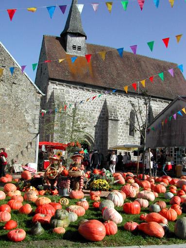 Fête de la citrouille à Saint-Laurent (Creuse)