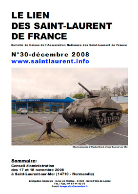 Lien N°30 - bulletin de liaison des Saint-Laurent de France
