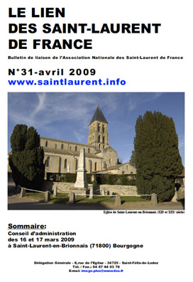 Lien N°31 - bulletin de liaison des Saint-Laurent de France