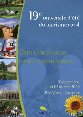 19° université d'été du tourisme rural