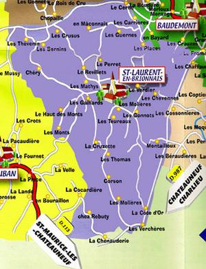 La commune de Salnt-Laurent-en-Brionnais