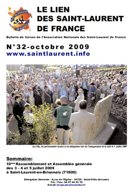 Lien N° 32 - Bulletin de liaison des Saint-Laurent de France