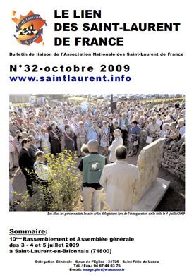 Lien N° 32 - Bulletin de liaison des Saint-Laurent de France