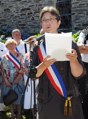 Isabelle Michel, maire de Saint-Laurent-sur-Oust