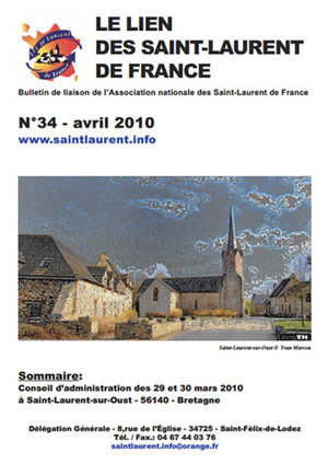 Lien N° 34 - Bulletin de liaison des Saint-Laurent de France