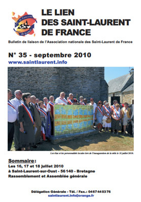 Lien N° 35 - Bulletin de liaison des Saint-Laurent de France
