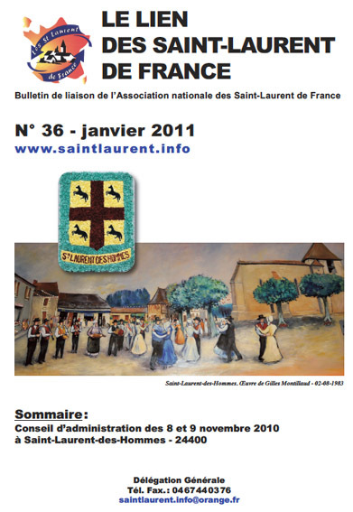 Lien N° 36 - Bulletin de liaison des Saint-Laurent de France