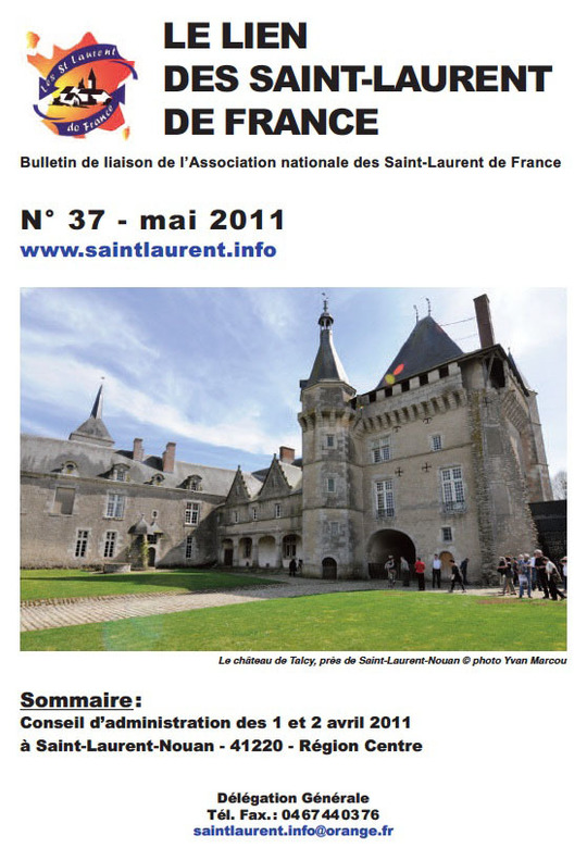 Lien N° 37 - Bulletin de liaison des Saint-Laurent de France