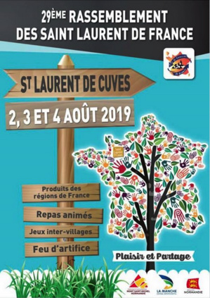 29° rassemblement des Saint-Laurent de France - information n°3