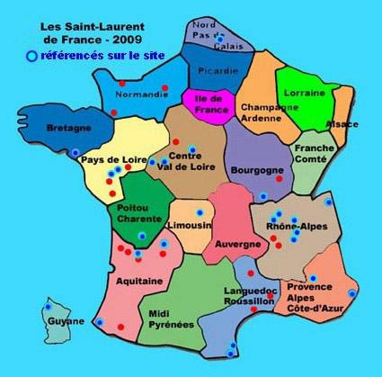 Pour accéder aux informations, cliquer sur la Région ou sur le Saint-Laurent qui figurent en bleu au menu ci-dessous