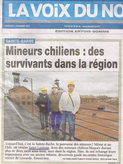Les mineurs chiliens fêtent saint Laurent