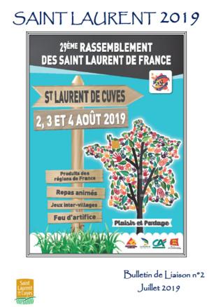 29° rassemblement des Saint-Laurent de France - information n°5