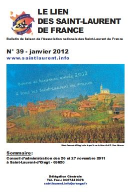 Lien N°39 - Bulletin de liaison des Saint-Laurent de France