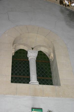 Baie de communication entre la nef et le clocher porche