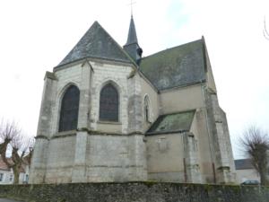 Le chœur, la chapelle de la Vierge et la sacristie nord