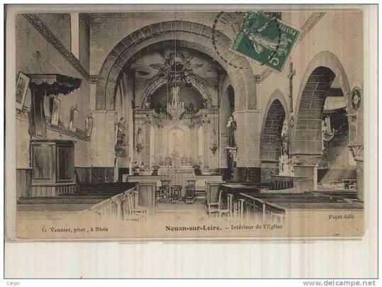 L'église saint Aignan de Nouan sur Loire