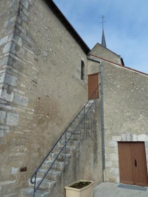 L'escalier en pierre construit en 1842