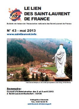 Lien N° 43 - Bulletin de liaison des Saint-Laurent de France