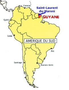 VOIR LA CARTE DE LA REGION GUYANE