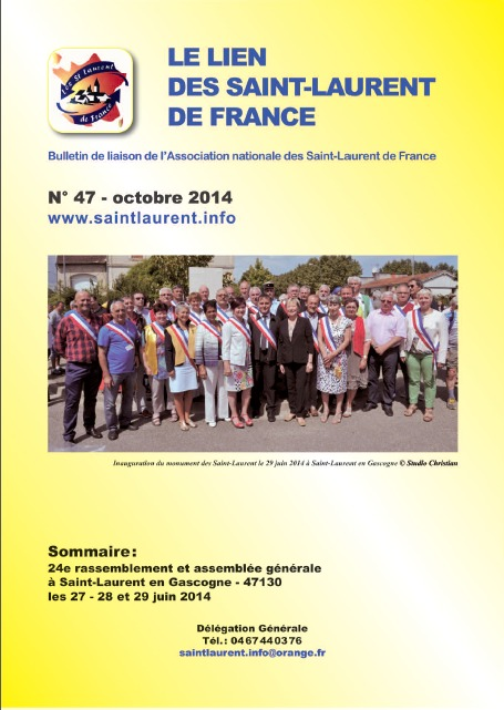 Lien N° 47 - Bulletin de liaison des Saint-Laurent de France