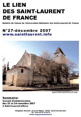Lien N°27 - bulletin de liaison des Saint-Laurent de France.