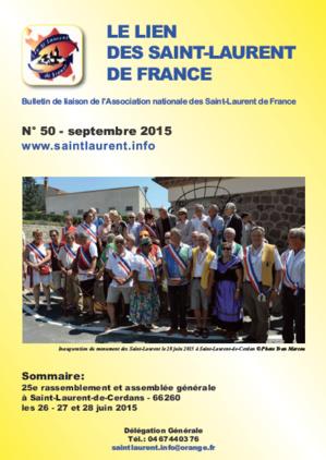 Lien N° 50- Bulletin de liaison des Saint-Laurent de France