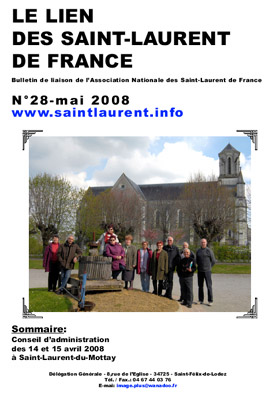 LIEN N°28 - bulletin de liaison des Saint-Laurent de France