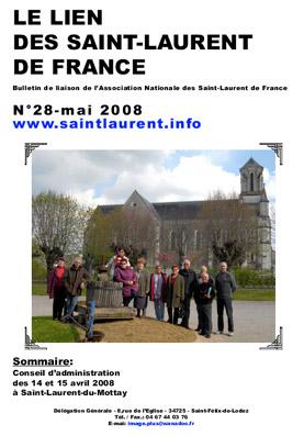 LIEN N°28 - bulletin de liaison des Saint-Laurent de France