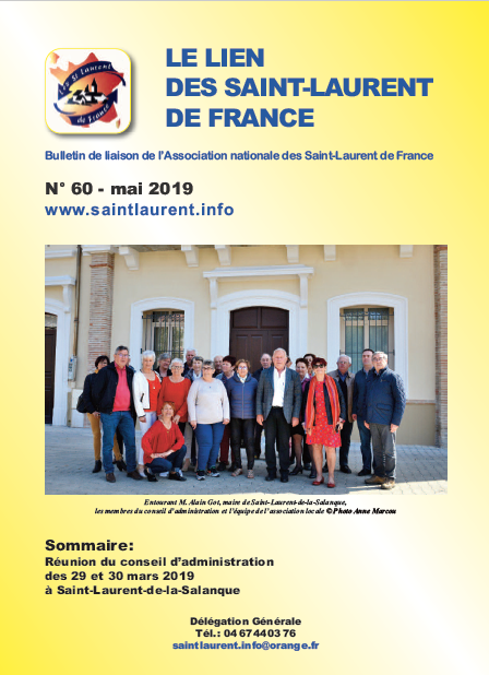 Lien n°60 - Bulletin de liaison des Saint-Laurent-de-France