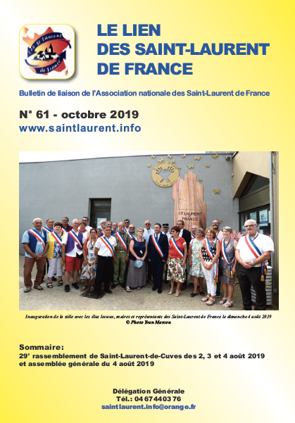 Lien n°61- Bulletin de liaison des Saint-Laurent-de-France