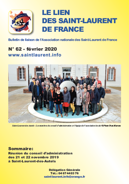 Lien n°62 - Bulletin de liaison des Saint-Laurent-de-France