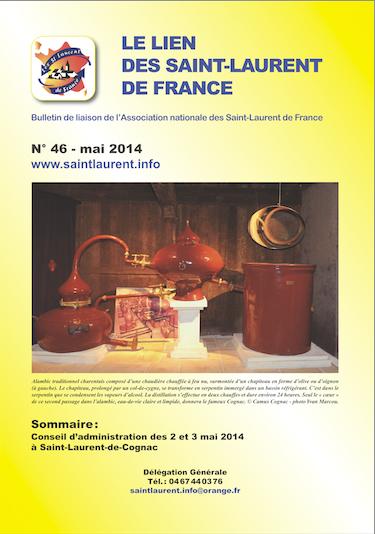 Lien N° 46 - Bulletin de liaison des Saint-Laurent de France