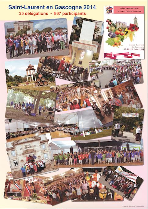 Affiche du 24° rassemblement 2014 - Saint-Laurent en Gascogne