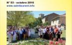 Lien N°53 - bulletin de liaison des Saint-Laurent de France - octobre 2016